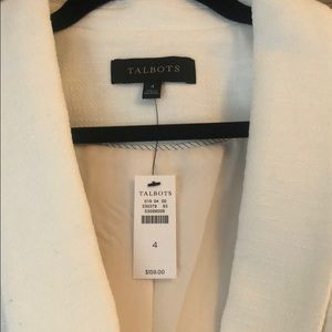 Talbots Jackets & Coats - NWT White blazer!